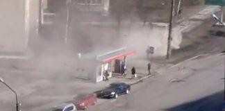 Ветер поднимает пыль в Петрозаводске