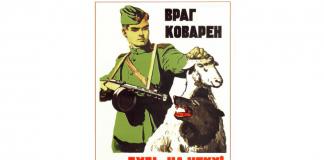 Советский плакат: Враг коварен — будь на чеку!