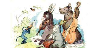 Иллюстрация Серова к басне Крылова «Квартет»