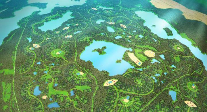 Модель развития ландшафтно-усадебной урбанизации
