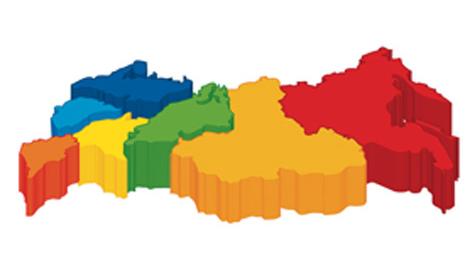 Макет карты регионов России