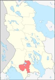 Пряжинский район на карте Карелии