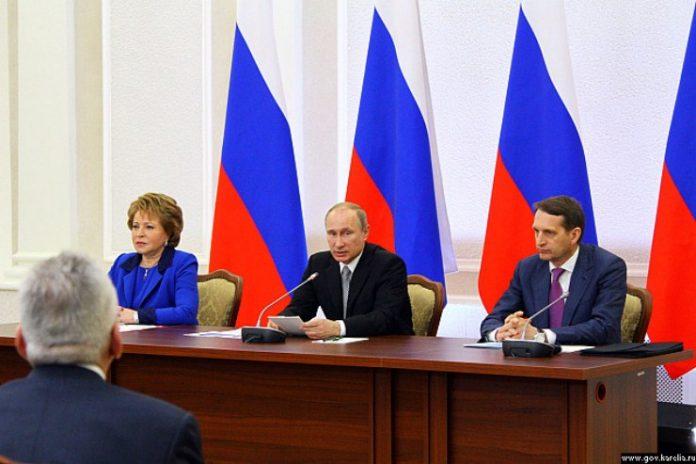 Владимир Путин в Петрозаводске на встрече с членами Совета законодателей