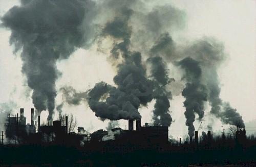 Загрязнение атмосферы вредными выбросами промышленных объектов