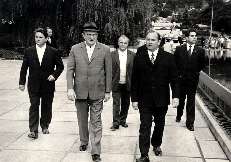 Андропов и Горбачёв, Ставрополье, 1973 год