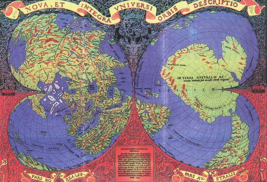 Карта Оронтеуса Финиуса, 1531 год