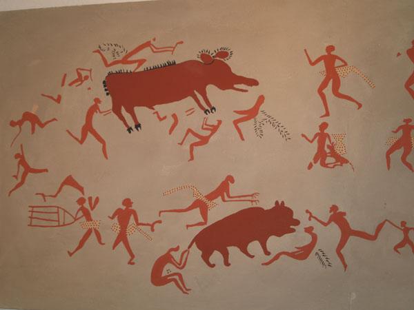 Настенный рисунок матрицы (сценария) охоты