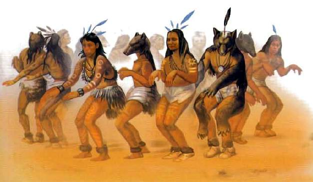 Ритуальный танец древних индейцев