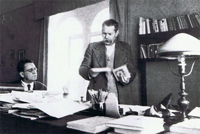С. Маршак и М. Горький