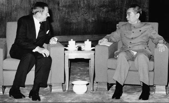 Д. Рокфеллер и Чжоу Эньлай, 1973 год