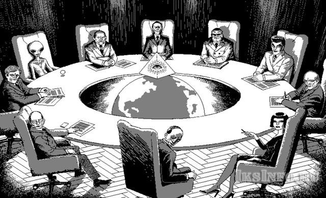 Карикатура на мировое правительство