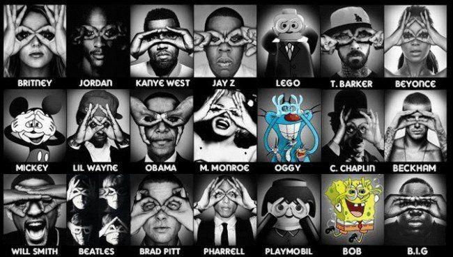 Звёзды развлекательной индустрии демонстрируют жесты—знаки иллюминатов