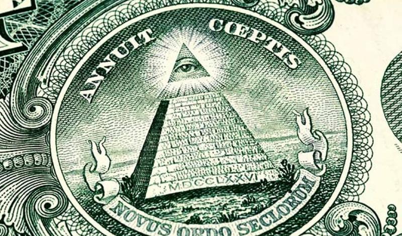 Символ концептуальной власти на однодолларовой купюре