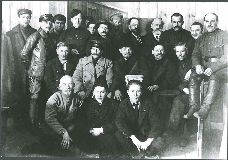 Главные действующие лица Октябрьской революции 1917 года