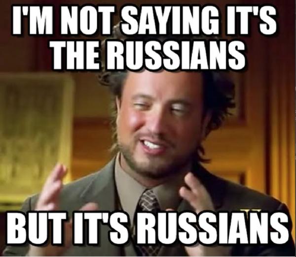 Демотиватор на тему «Я не говорю, что это русские, но это — русские»