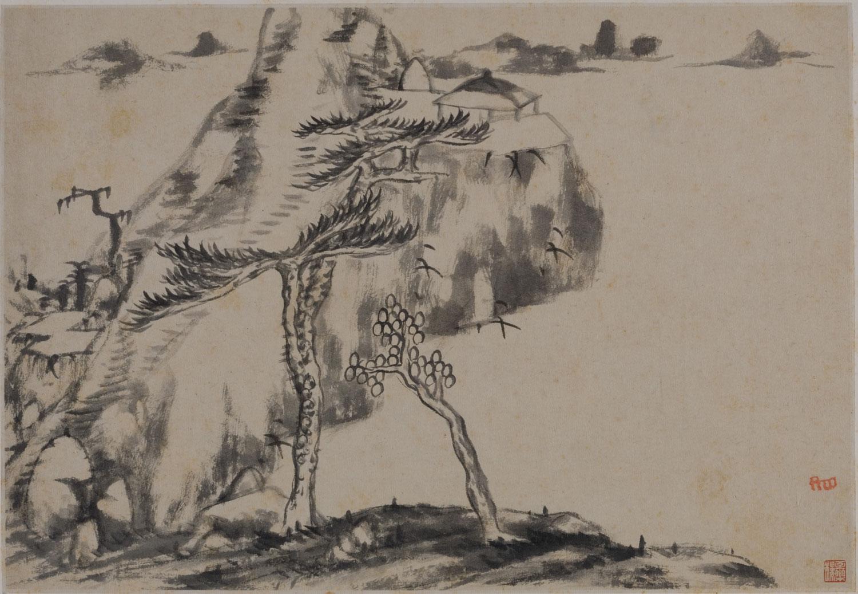 Картина великого китайского художника Чжу Да