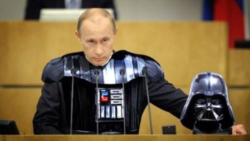 В.Путин в образе Дарта Вейдера