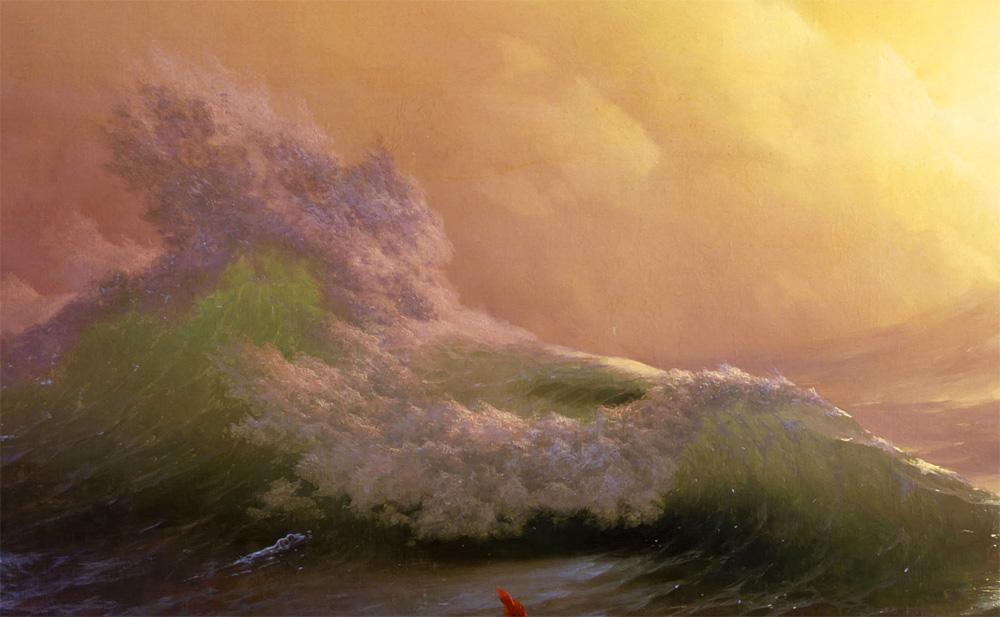 Фргамент картины Айвазовского «Девятый вал» 1850 -12