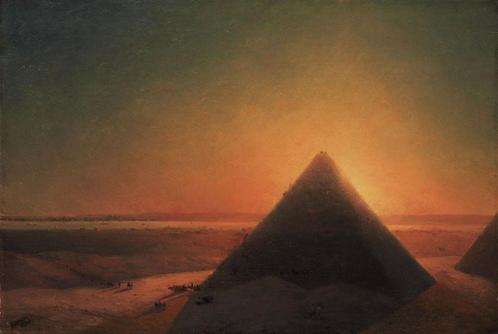 картина Айвазовского «Большая пирамида в Гизе», 1878-05