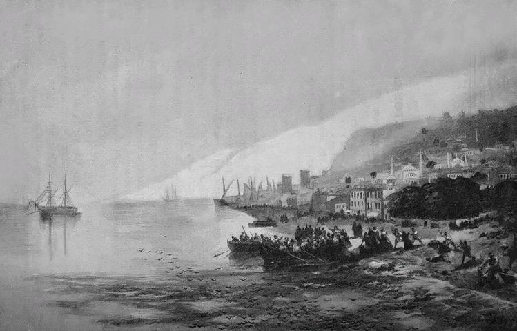 картина Айвазовского «Погром армян в Трапезунде» 1895-22