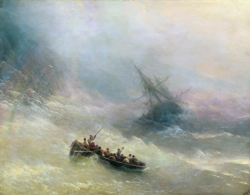 картина Айвазовского «Радуга» 1873-13