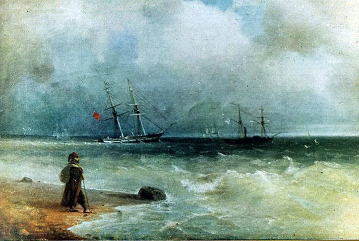 картина Айвазовского «Морской берег» 1829 -14