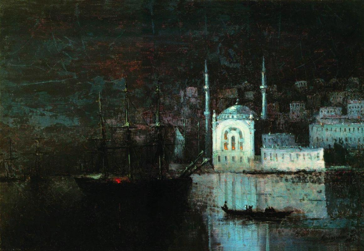 картина Айвазовского «Ночной Константинополь» 1886 -21