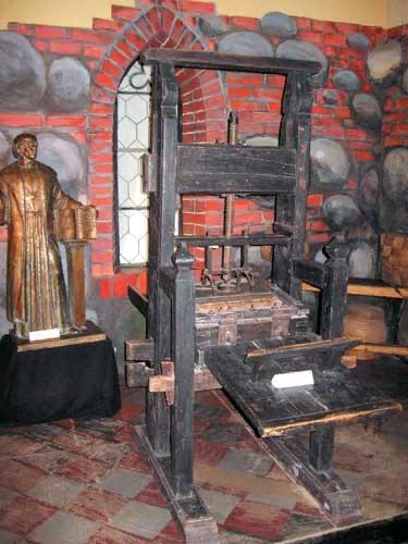 Печатный станок Гутенберга, на котором печатал Франциск Скорина-08