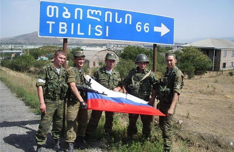 российские солдаты на подступах к Тбилиси - 06