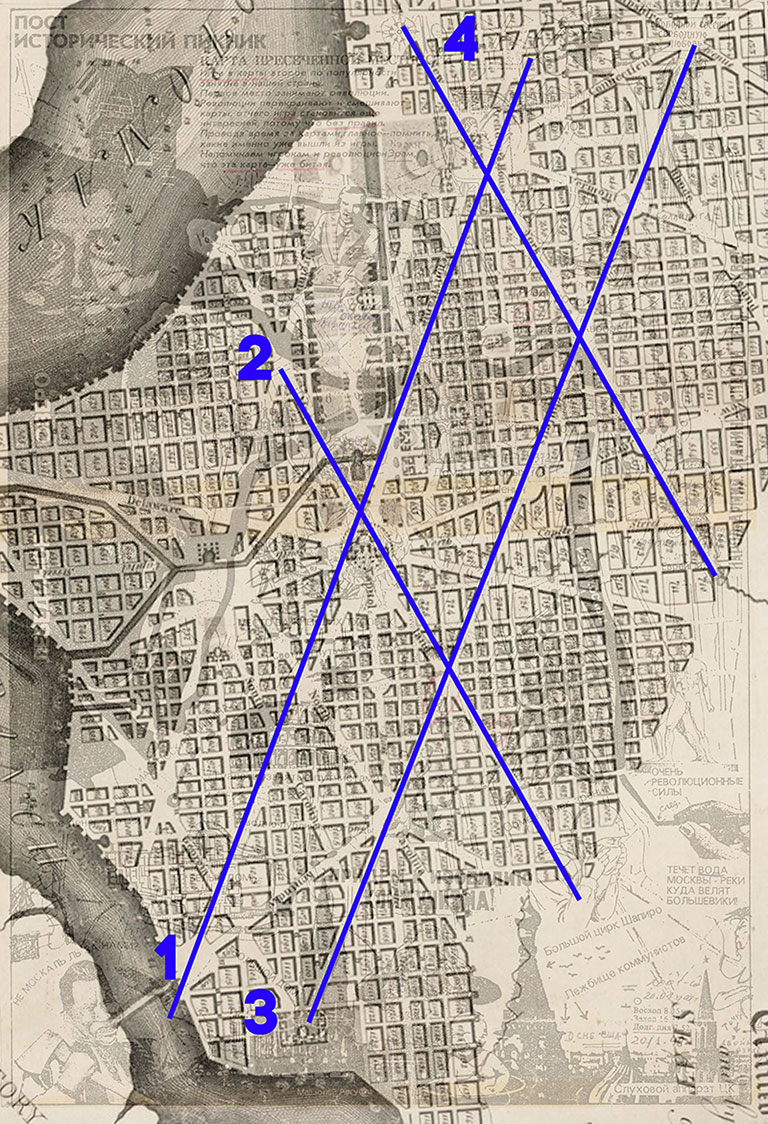 Наложение пост исторического пикника на старую карту Вашингтона
