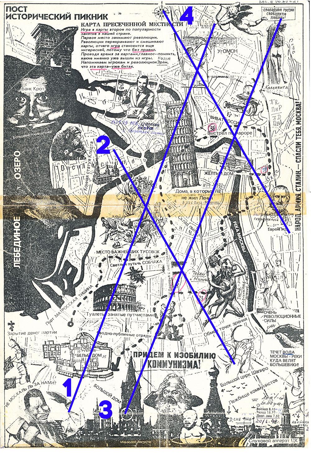 пост исторический пикник с главными и второстепенными диагоналями