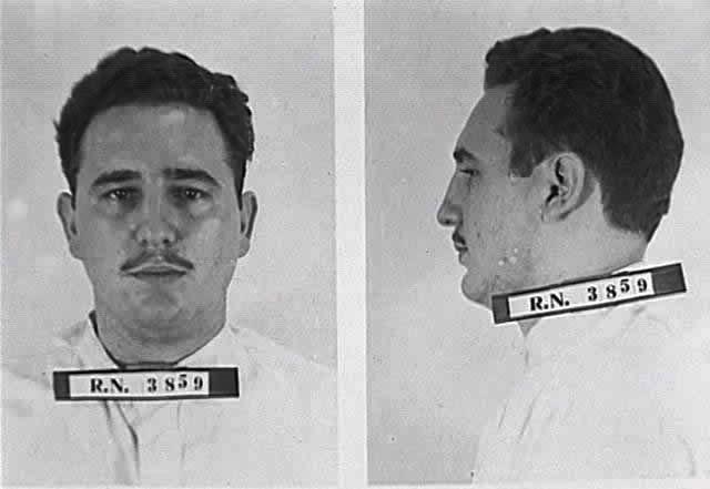 Арестованный Фидель Кастро, июль 1953 года
