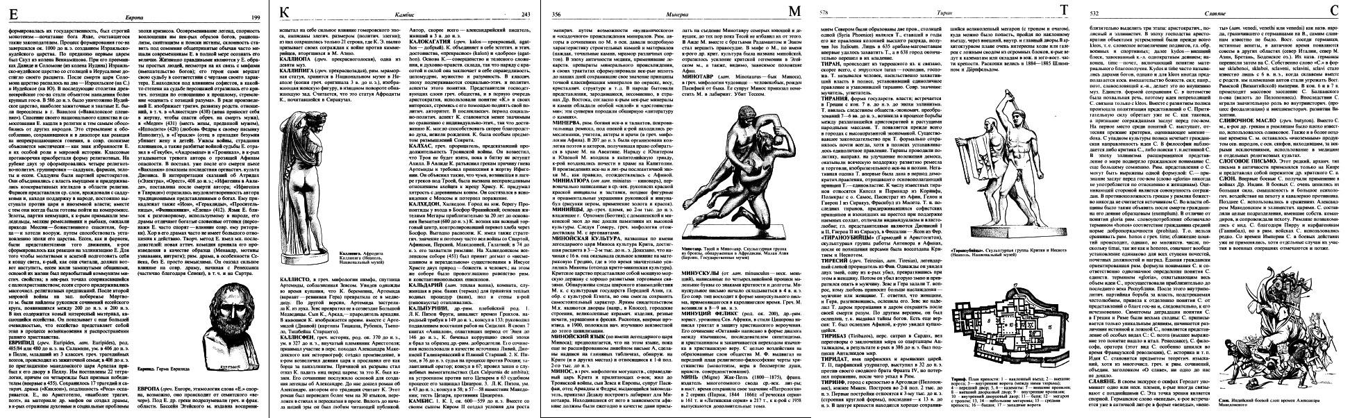 Иллюстрации к словарным статьям. Йоханнес Ирмшер, Рената Йоне. Словарь античности, 1989 год