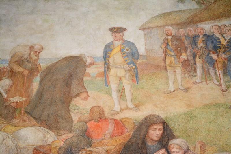 фреска в бывшей Фридрихсшуле в Гусеве