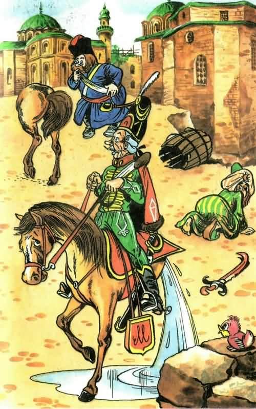 история о боевом коне мюнхаузена перерубленном пополам