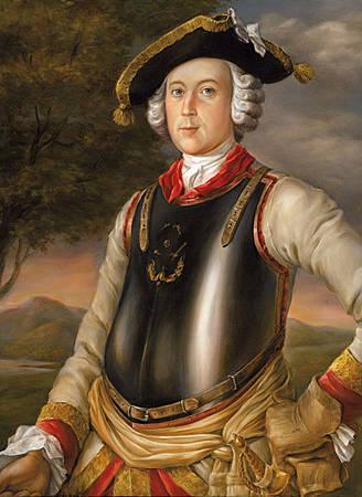 Барон Мюнхаузен в кирасе браунгшвейского полка. Единственный уцелевший портрет