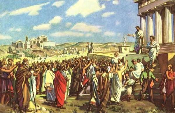 Софисты в Древней Греции перед публикой
