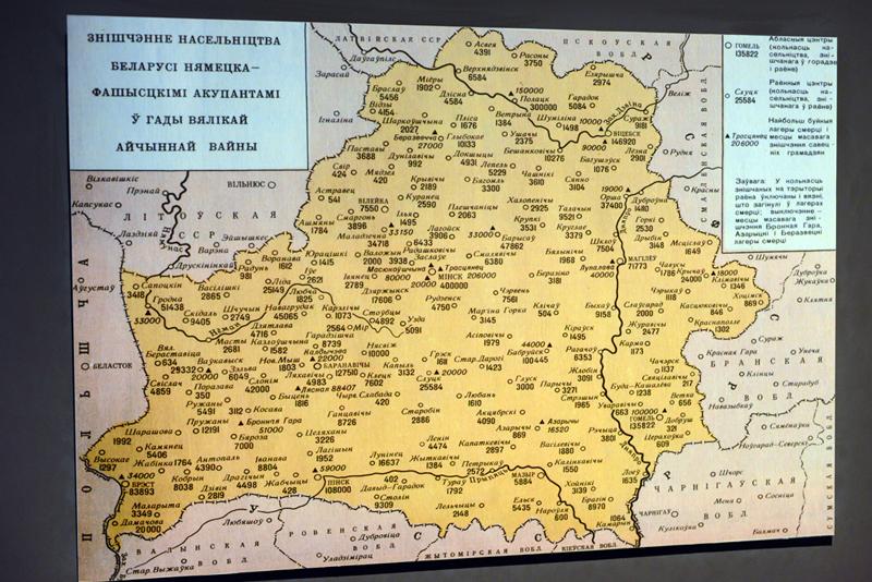 Карта концентрационных лагерей на территории Белоруссии