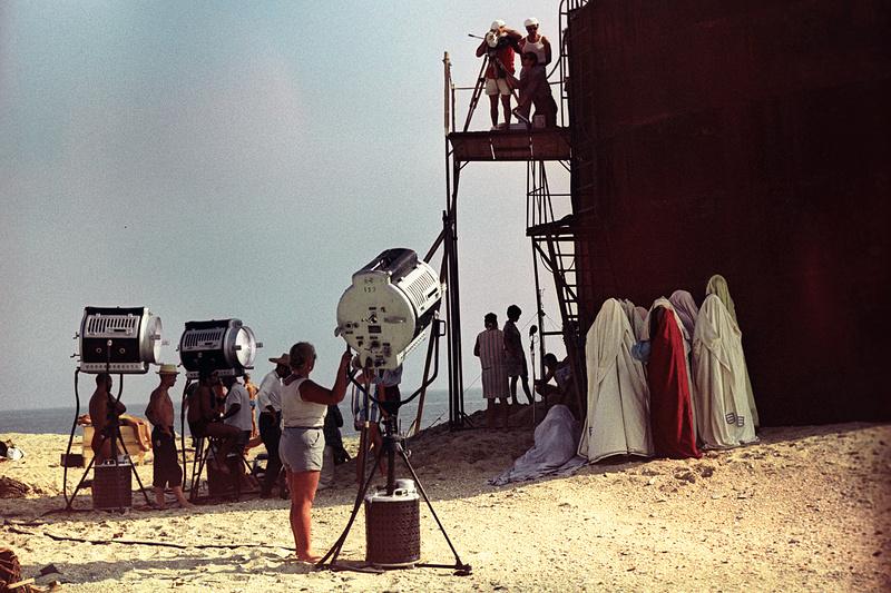 На съёмках фильма «Белое солнце пустыни» в Каспийске