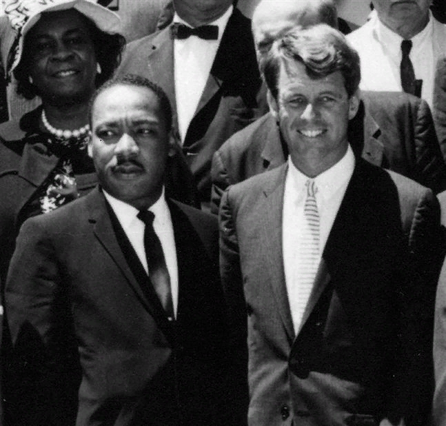 Мартин Лютер Кинг и Роберт Кеннеди