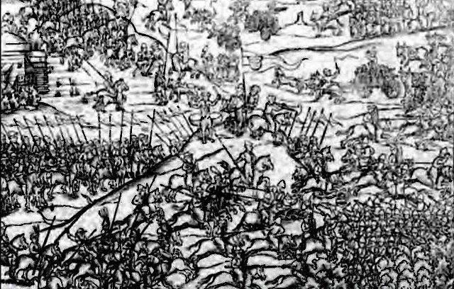 Битва под Вишневцем (под Лопушиным) двеорит XVI века