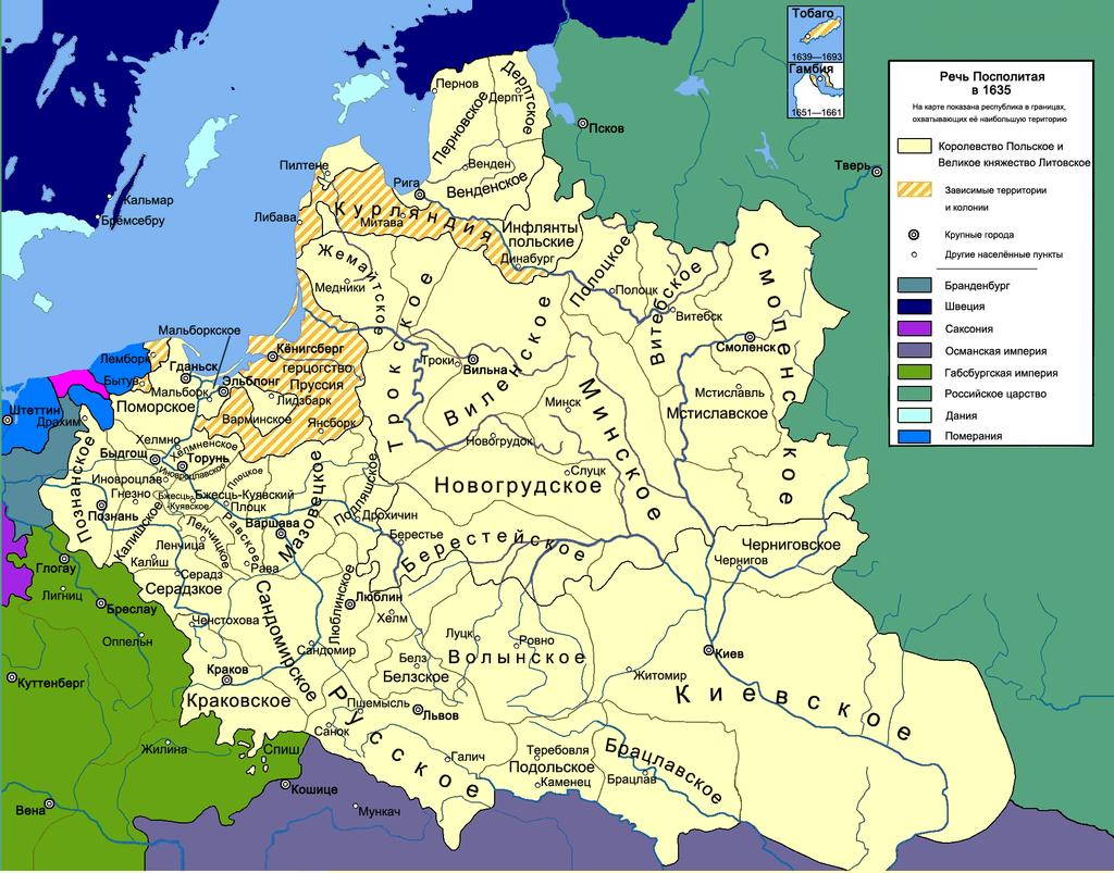 Речь Посполитая в 1635 году