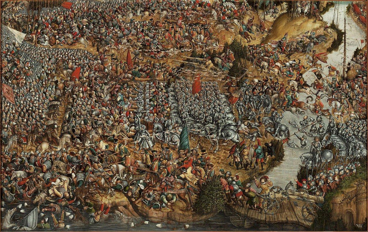 Битва под Оршей, 8 октября 1514 года, полотно неизвестного автора