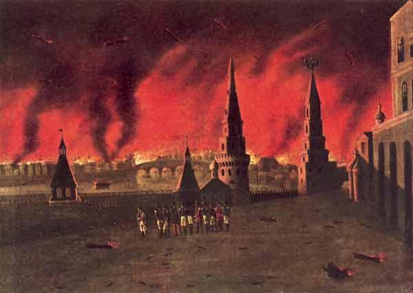 Пожар Москвы в 1812 году. Художник Ф.Вендрамини