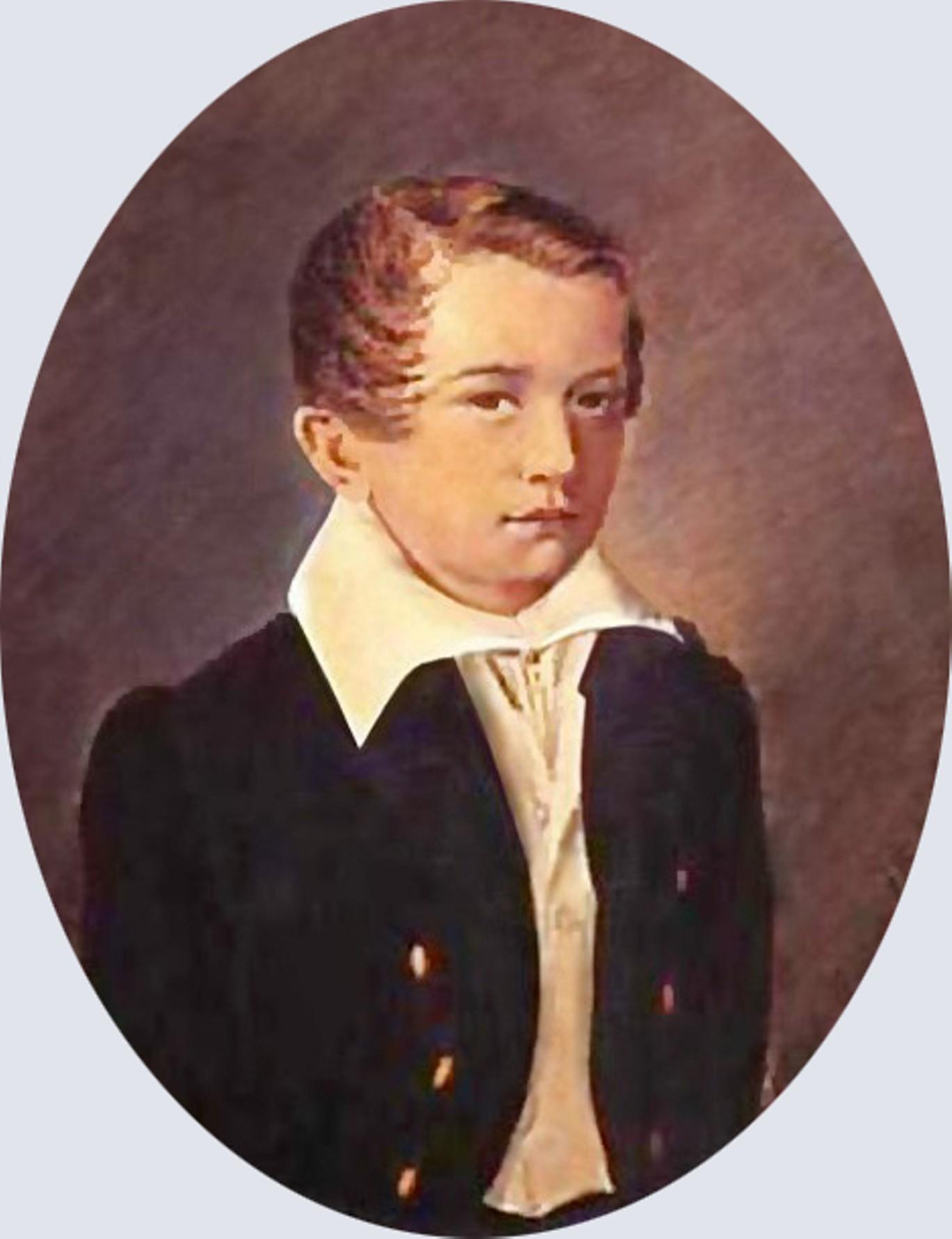 Иван Тургенев в возрасте 12 лет. Неизвестный художник. 1830. Государственный литературный музей