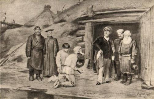 Бурмистр. Иллюстрация к «Запискам охотника». 1884.