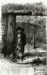 Касьян, иллюстрация самого И.С. Тургенева к «Запискам охотника»