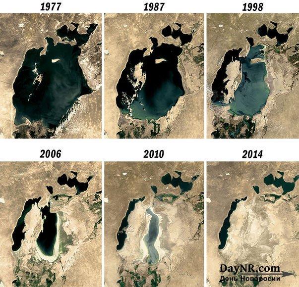 Динамика усыхания Аральского моря